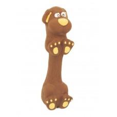 Latexová hračka s pískadlem - jezevčík malý 13 cm