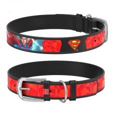 Obojek kožený Waudog DC Superman (18-24cm/1,2cm)