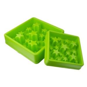 Eat Slow Star zelená L 30cm - Zpomalovací miska