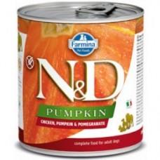 N&D DOG Pumpkin - Chicken, Pumpkin & Pomegranate Adult 285g - 1+1 konzerva ZDARMA - platí do vyprodání