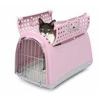IMAC Přepravka pro kočky a psy - plastová - růžová - D 50 x Š 32 x V 34,5 cm