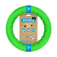 PitchDog - kroužek pro psy zelený 28cm