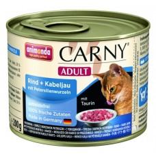 Animonda konzerva CARNY Adult hovězí, treska, petržel 200g
