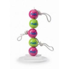 Orbee-Tuff® Fetch Ball růžový / zelený s provazem 8cm (5/5)