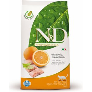 N&D Grain Free CAT Ocean Adult Fish & Orange 1,5kg (Ryba s pomerančem)