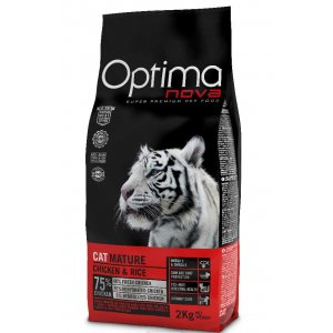 OPTIMAnova CAT MATURE CHICKEN & RICE - URINARY 2kg (EXP. 12/20 - sleva 40%)
