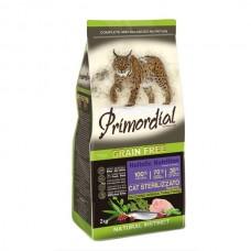 Primordial Grain-Free Cat Sterilizzato Turkey&Herring 2kg