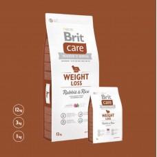 Brit Care Dog Weight Loss Rabbit & Rice 12kg (EXP. 27/06/2021 - sleva 25%)
