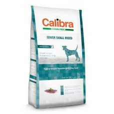 Calibra Dog Grain Free Senior Small Breed Duck 2kg NEW