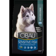 Cibau Sensitive Fish Medium & Maxi 12kg + 2kg ZDARMA (do vyprodání)