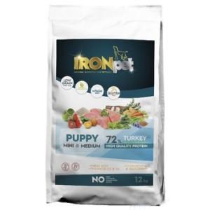 IRONpet TURKEY Puppy Mini & Medium 12kg