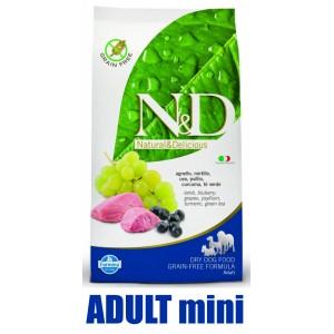 N&D Prime DOG Adult Mini Lamb & Blueberry 2,5kg (jehně s borůvkami)