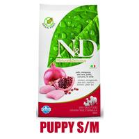 N&D Grain Free DOG Puppy S/M Chicken & Pomegranate 800g