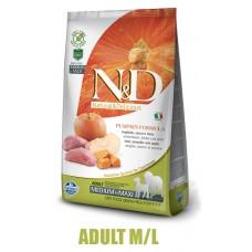 N&D Grain Free Pumpkin DOG Adult M/L Boar & Apple 12kg