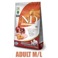 N&D Grain Free Pumpkin DOG Adult M/L Chicken&Pomegranate 12kg