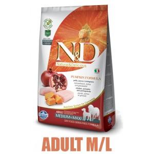 N&D Grain Free Pumpkin DOG Adult M/L Chicken&Pomegranate 2,5kg