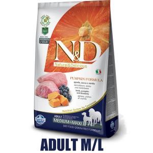 N&D Grain Free Pumpkin DOG Adult M/L Lamb & Blueberry 12kg