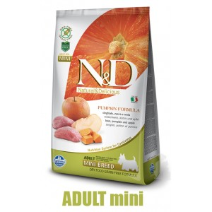 N&D Grain Free Pumpkin DOG Adult Mini Boar & Apple 2,5g