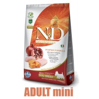 N&D Grain Free Pumpkin DOG Adult Mini Chicken&Pomegranate 7kg + barel ZDARMA