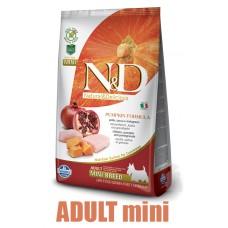 N&D Grain Free Pumpkin DOG Adult Mini Chicken&Pomegranate 2,5kg