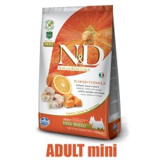 N&D Grain Free Pumpkin DOG Ocean Adult Mini Codfish & Orange 2,5kg