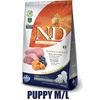 N&D Grain Free Pumpkin DOG Puppy M/L Lamb & Blueberry 2,5kg