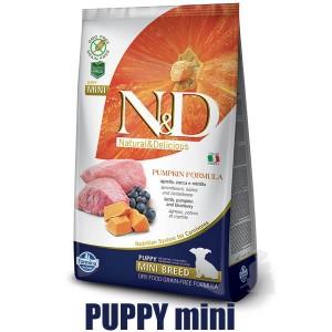N&D Grain Free Pumpkin DOG Puppy Mini Lamb & Blueberry 7kg