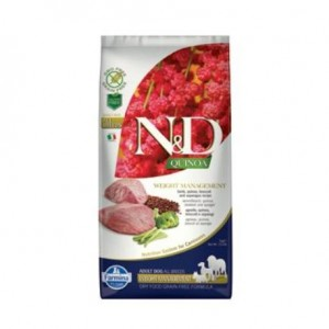 N&D Grain Free Quinoa DOG Weight Management Lamb & Broccoli 800g