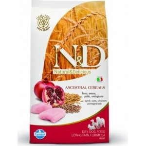 N&D Low Grain DOG Adult M/L Chicken & Pomegranate 12kg + barel ZDARMA