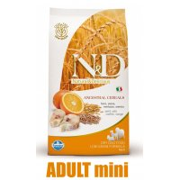 N&D Low Grain DOG Ocean Adult Mini Codfish & Orange 7kg + barel ZDARMA