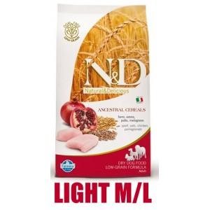 N&D Low Grain DOG Light M/L Chicken&Pomegranate 2,5kg (kuře a granátové jablko)