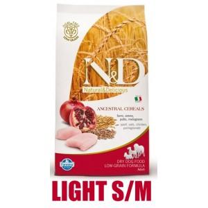 N&D Low Grain DOG Light Mini Chicken & Pomegranate 800g (kuře a granátové jablko)