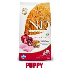 N&D Low Grain DOG Puppy M/L Chicken & Pomegranate 12kg (kuře + granátové jablko)