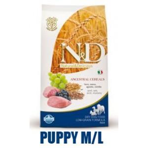 N&D Low Grain DOG Puppy M/L Lamb & Blueberry 12kg
