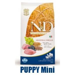 N&D Low Grain DOG Puppy Mini Lamb & Blueberry 7kg + barel ZDARMA