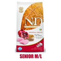 N&D Low Grain DOG Senior M/L Chicken&Pomegranate 12kg