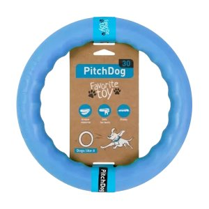 PitchDog - kroužek pro psy modrý 28cm