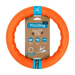 PitchDog - kroužek pro psy oranžový 28cm