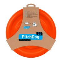 PitchDog - létající disk pro psy oranžový 24cm