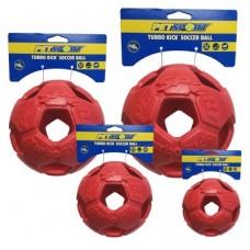 Turbo Kick Soccer Ball 15 cm - fotbalový míč pro psy, červený