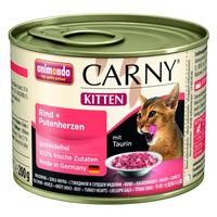 Animonda konzerva Kitten hovězí/krůtí srdce 200g - Carny Kitten