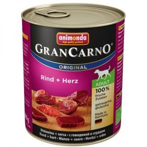 Animonda GRANCARNO konzerva ADULT hovězí/srdce 800g