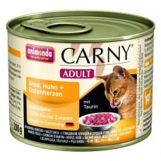 Animonda konzerva CARNY Adult hovězí,kuře, kach.srdce 200g