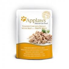Applaws kapsička Cat JELLY 70g kuřecí prsa a HOVĚZÍ v aspiku