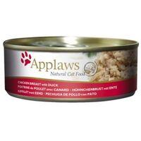 Applaws konzerva Cat kuřecí prsa a kachna 156g