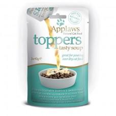 Applaws toppers Cat dýňová polévka s pražmou a tuňákem 3x40g