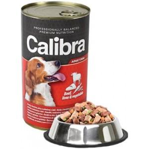 Calibra Dog konzerva hovězí+játra+zelenina v želé 1240g