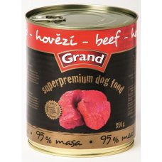 GRAND konzerva Superpremium pes hovězí 850g