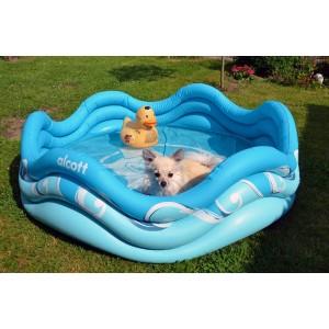 Alcott Nafukovací bazén pro psy, modrý, 121,9x40,6x121,9cm