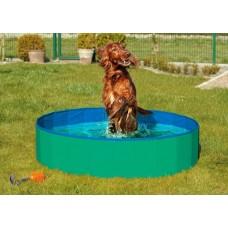Skládací bazén pro psy zeleno/modrý 80x20cm